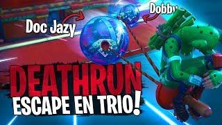 Le premier Deathrun TRIO avec des mécaniques jamais vues !! Avec Doc Jazy sur Fortnite Créatif