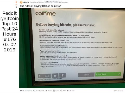 The Rules Of Buying BTC On Coin Star (r/Bitcoin #176)