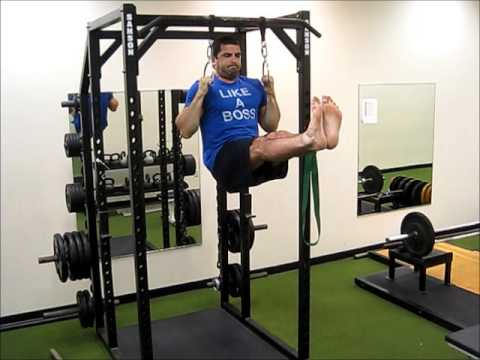 Hanging Leg Raise With Straps Chin-up Iso Hol...