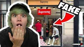 Visiting a FAKE SUPREME Store Online in Europe! What???