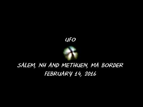 UFO near Salem, NH and Methuen, MA Border - February 14, 2016