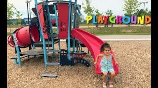 Sally play at outdoor playground!! family fun vlog