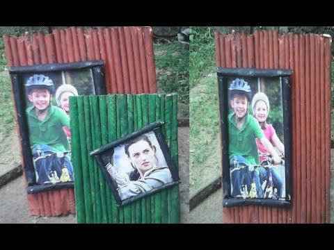 DIY Newspaper Photo Frame Easy to Make| Paper Roll photo frame