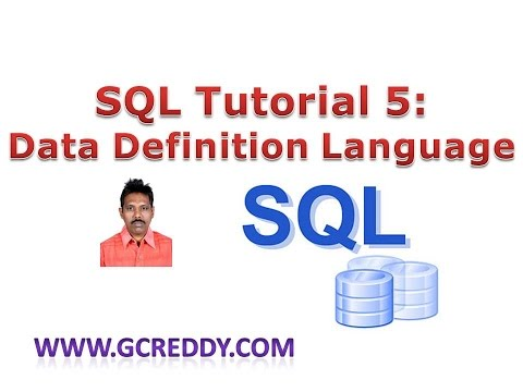 SQL Tutorial 5: Data Definition Language