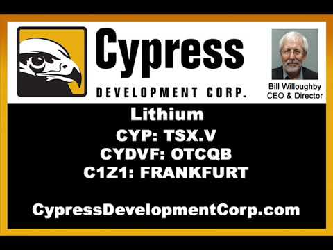 Advancing the Clayton Valley, Nevada Lithium Project. Bill Willoughby (CYP:TSX.V) - Nov. 16, 2018