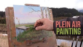 Paintng the Landscape with Trees in Pitt Meadows :: Plein Air