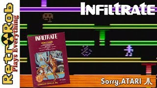 Sorry, Atari #27: Infiltrate -- A passible yet not fabulous early platformer for the Atari VCS