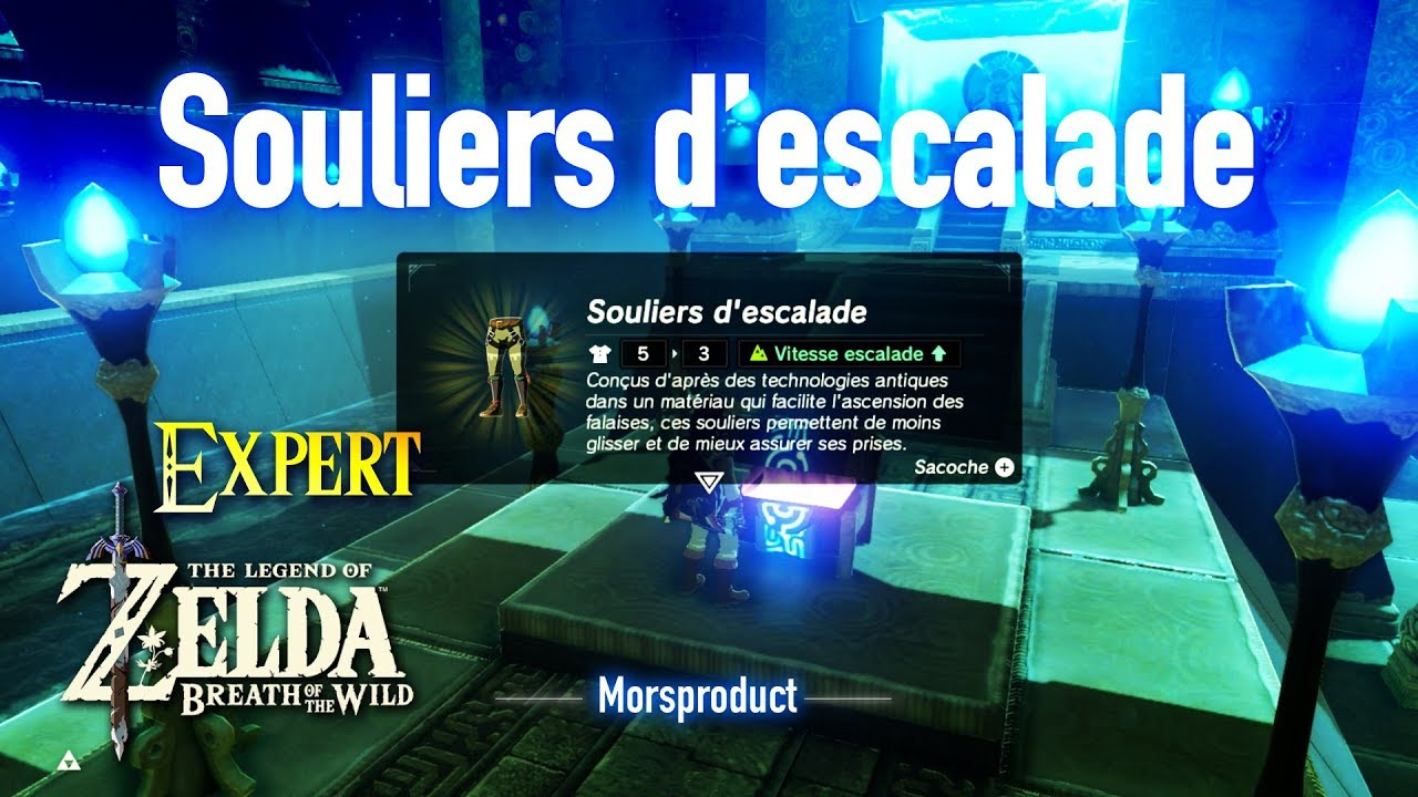 zelda breath of the wild expert souliers d escalade morsproduct nintendo switch