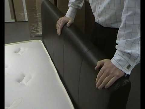 David Phillips Furniture Cherie Faux Leather Bed Frame Youtube
