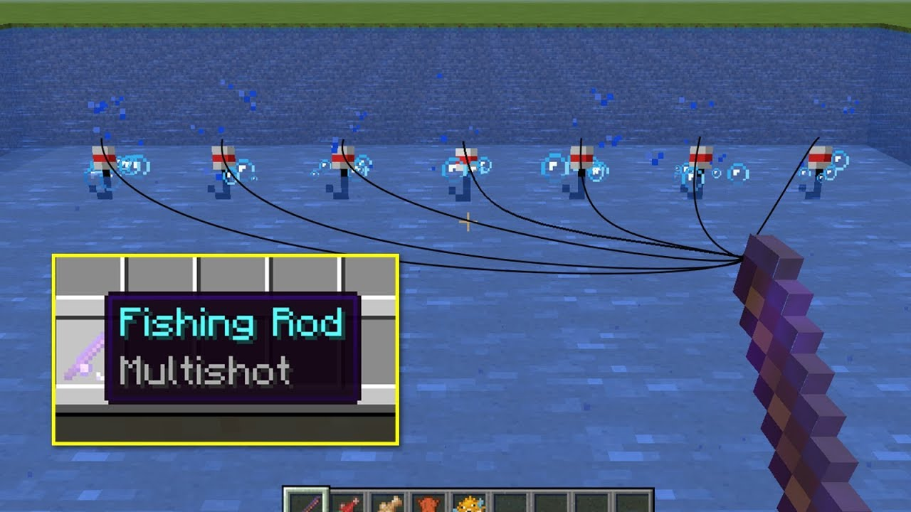 Multishot Fishing In Minecraft Youtube