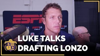 Luke Walton Reacts To Lakers Drafting Lonzo Ball At No. 2