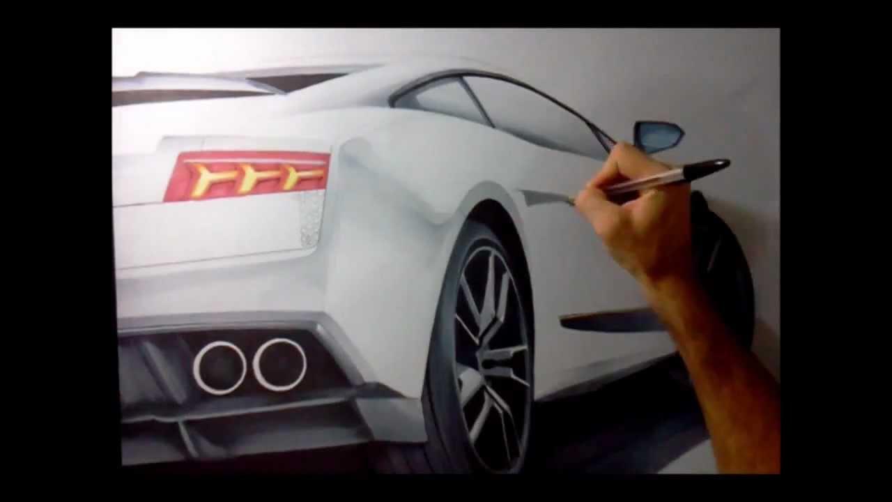 Desenhando Lamborghini Por Adonis Alcici Youtube