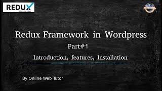 redux framework in wordpress for beginners in hindi