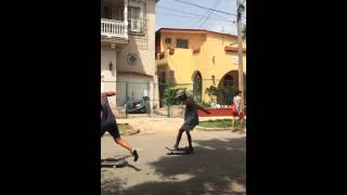 Skate jam in the streets of Havana, Cuba July 2015