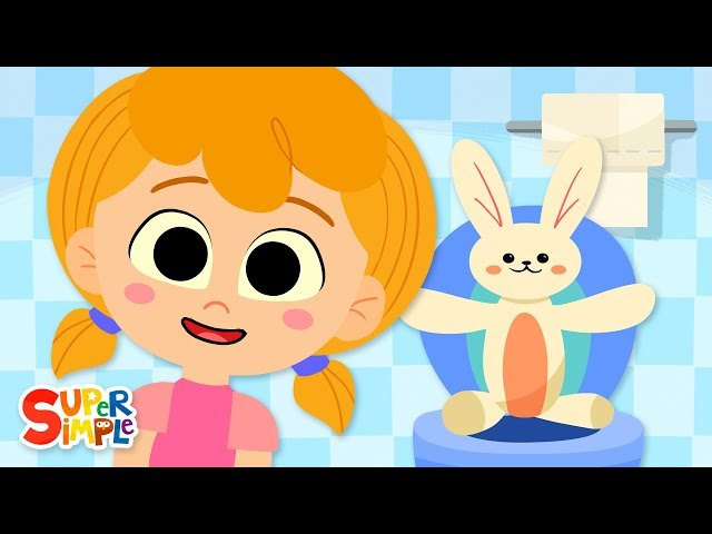 Sitting On The Potty | Toilet Training Song | Super Simple Songs