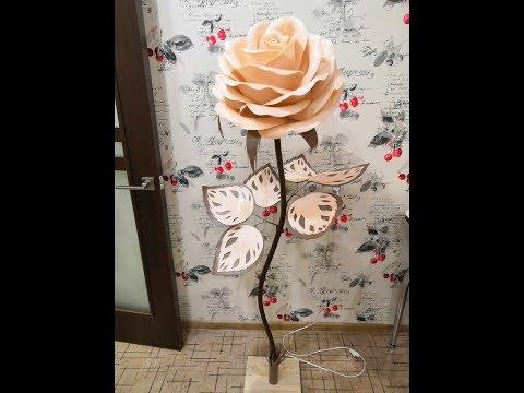 МК Розы из изолона. Декорирование муфты