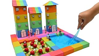 DIY Miniature House #23 - How To Make Urban Area from Kinetic Sand & Slime - Zon Zon