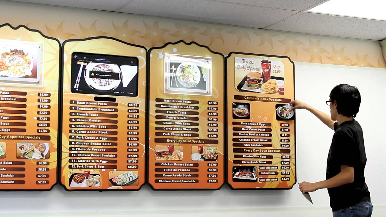 Menu Board System Custom Menu Boards Digital LED Classic .