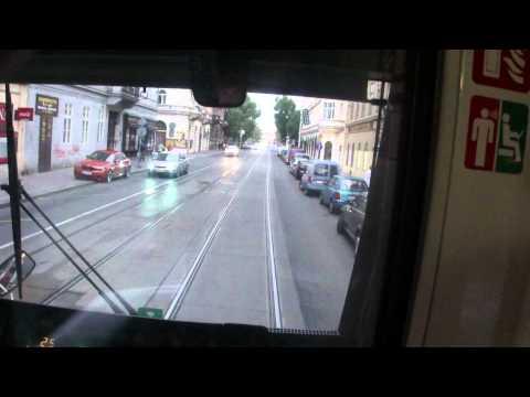Prague - tram ride from Mala Strana to Novo Mesto via Legion Bridge
