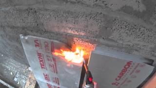 Горит пенопласт в теплоблоке или нет?(Пенопласт который применяется в изготовлении теплоблока. Проверка на горение + проверка других утеплителей., 2015-07-26T08:20:58.000Z)