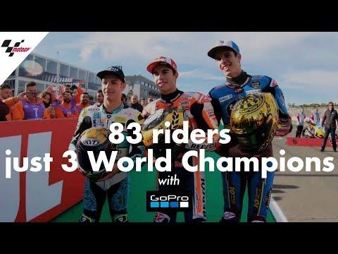 GoPro™: 83 riders, just 3 World Champions