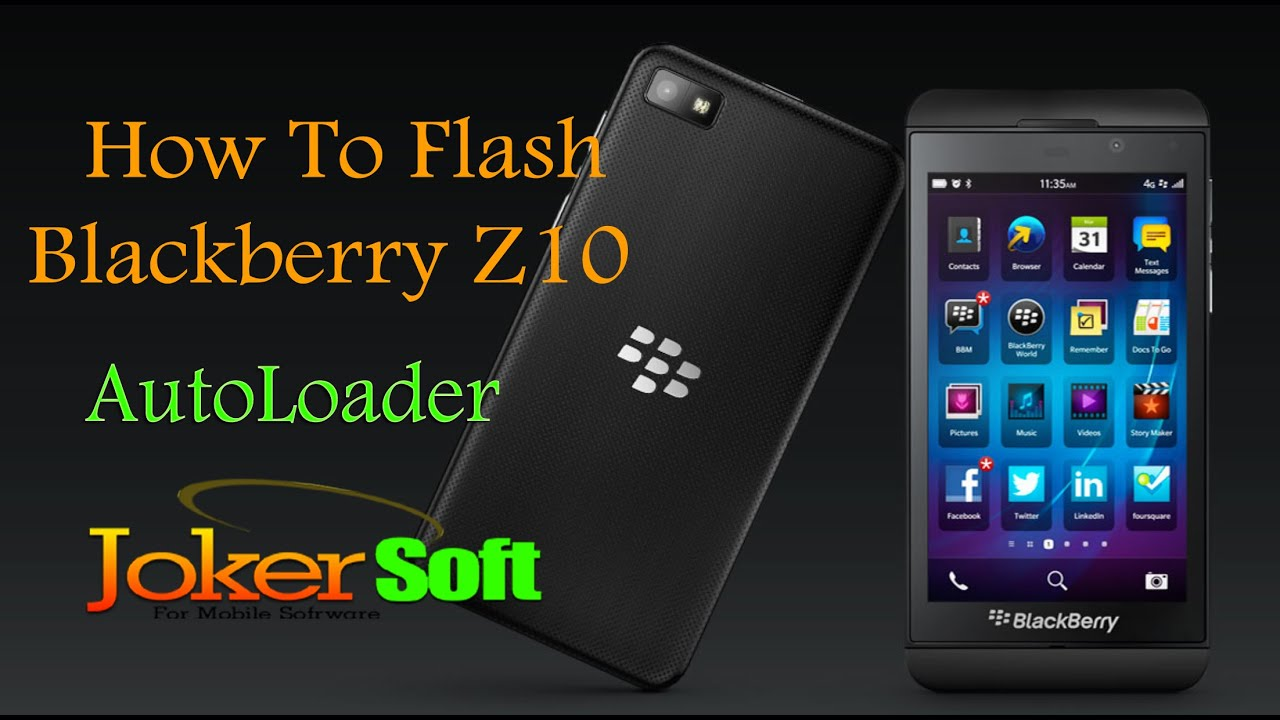 طريقة اعادة السوفت الاصلى Blackberry Z10 باستخدام autol