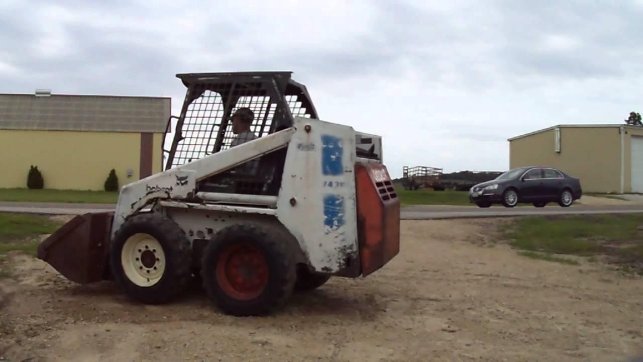 1991 Bobcat 743b Diesel Skid Steer Loader For Sale Youtube