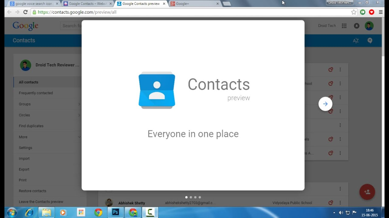 Google Contacts - Web App Preview - YouTube