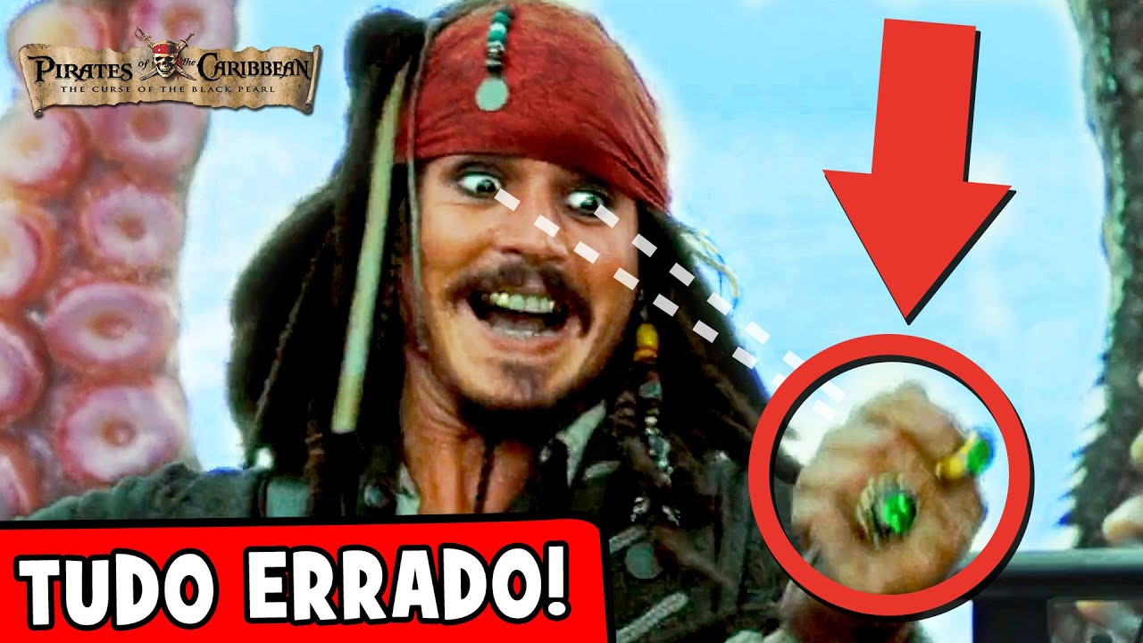 25 ERROS BIZARROS nos filmes PIRATAS DO CARIBE que você não percebeu!  ☠🎬