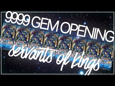 [Yu-Gi-Oh! Duel Links] 9999 Gem Box Opening | Servants of Kings