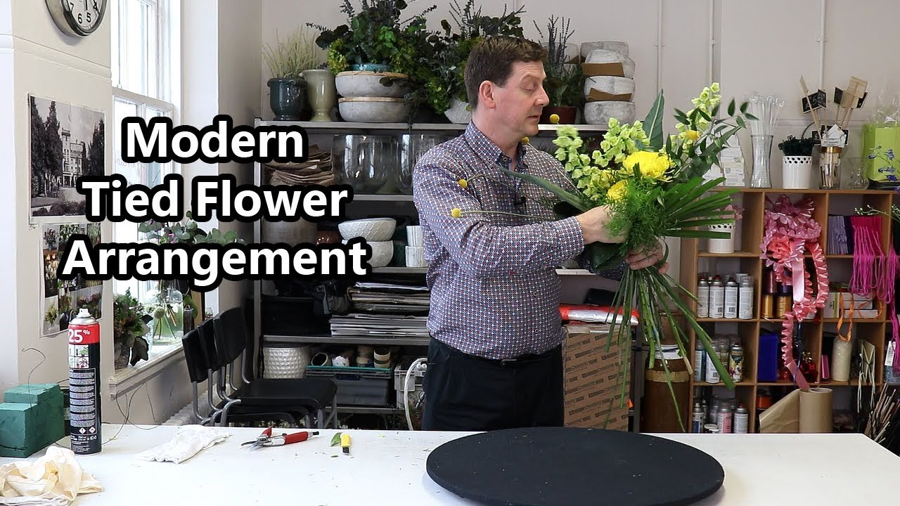 How To Make A Modern Tied Flower Arrangement Youtube