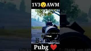 Pubg whatsapp status on song    pubg headshot AWM 1V3 video   #Short #AcTorGaming