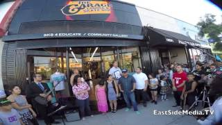 the garage lounge skate shop grand opening in boyle heights