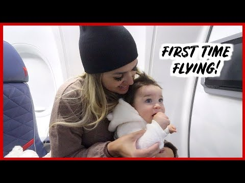 BABY'S FIRST TIME FLYING... WAS HE GOOD? | VLOGMAS DAY 9