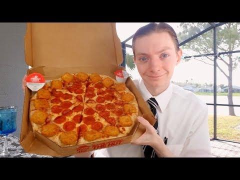 Pizza Hut NEW Mozzarella Poppers Pizza Review!