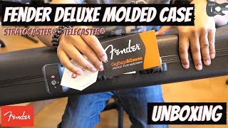 Fender Deluxe Molded Case Unboxing | Stratocaster | Telecaster