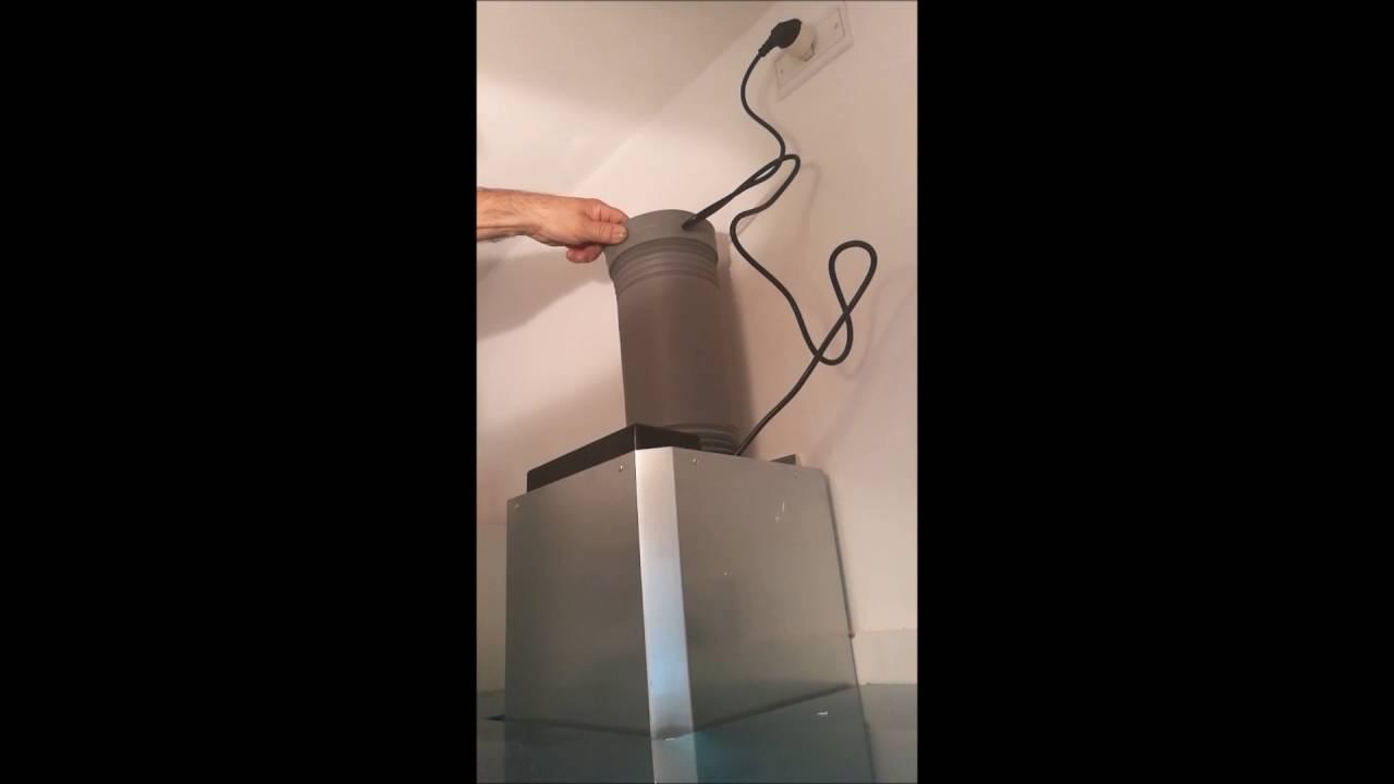 Recensione con tutorial istallazione cappa klarstein youtube for Cappa cucina senza tubo