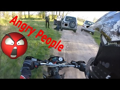 Enduro | Motocross Vs Agressive Angry Forester | People - Compilation 2015