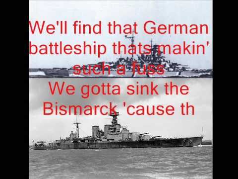 Johnny Horton - Sink the Bismarck with lyrics