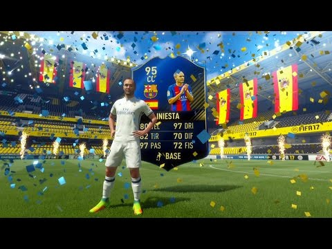 INIESTA TOTY IN A PACK!! L HO TROVATO!! - FIFA 17 ULTIMATE TEAM TOTY PACK OPENING