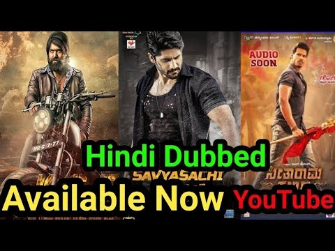Top 10 Big New South Hindi Dubbed Movies Available On YouTube.(March)