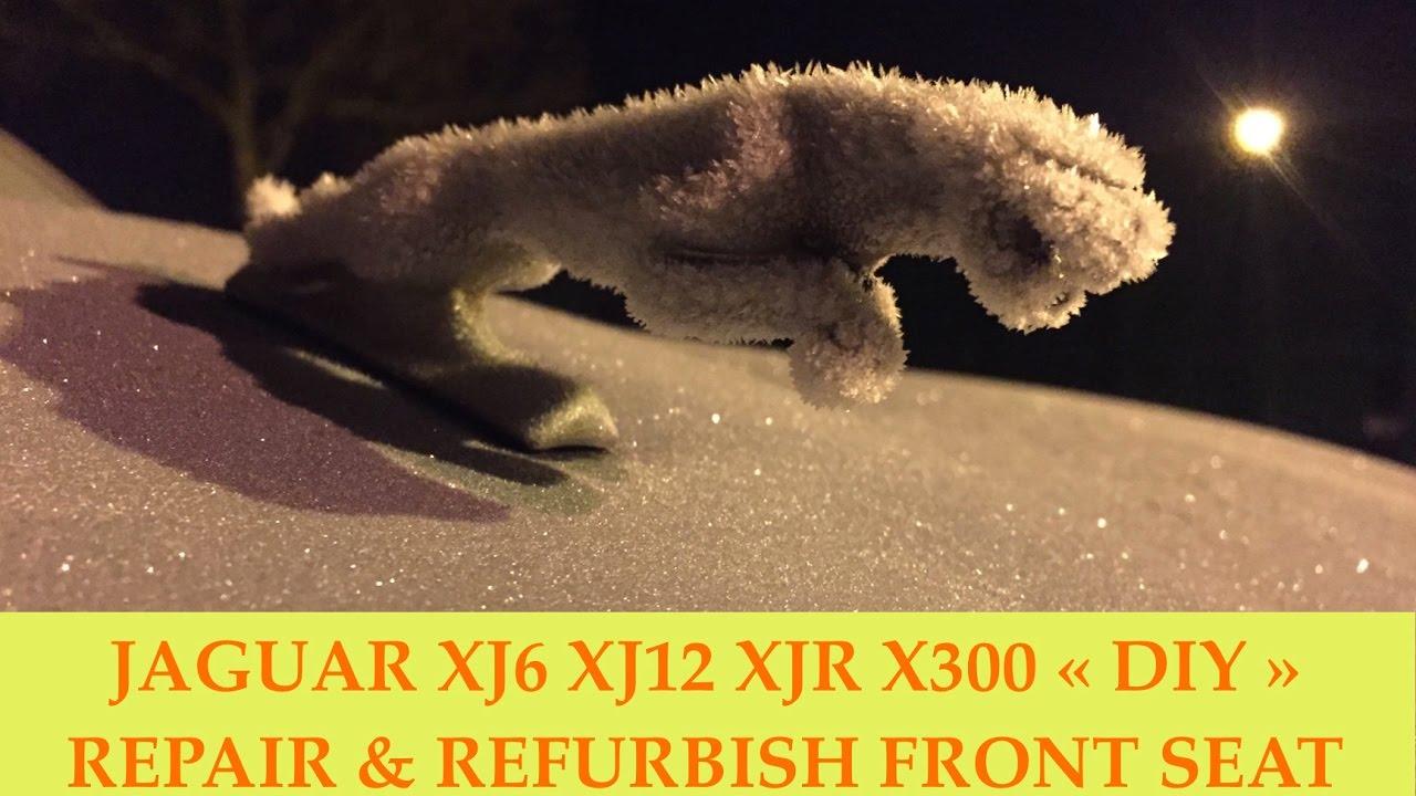 jaguar xj6 xj12 xjr x300 remove refurbish front seat [ 1280 x 720 Pixel ]