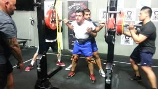 Allen Ozdil squats 210kg x 3 PTC