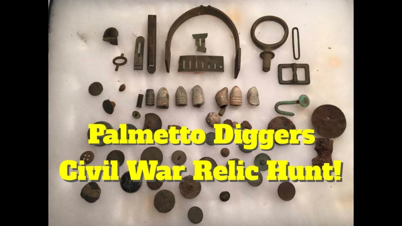 Flat Buttons, Spurs, & Civil War Buttons! Palmetto Diggers Seeded Hunt  Metal Detecting S C