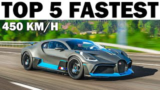 Top 5 Fastest Cars in Forza Horizon 4 (Stock)