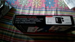 UNBOXING OF ToolsWare Universal 3 in 1 mobile camera lens