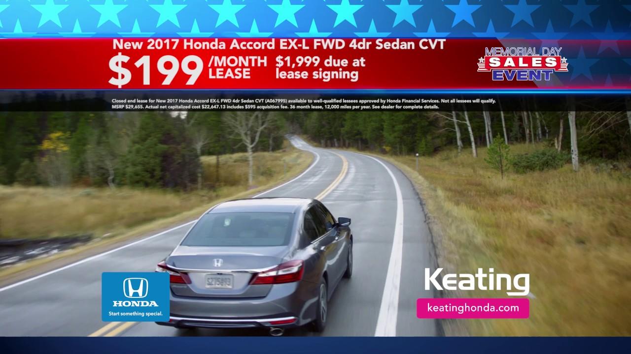 Honda Memorial Day Sale 2017 >> Keating Honda Memorial Day Sale May 2017 Youtube