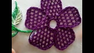 HAND EMBROIDERY NET STITCH BY ATIB EASY LEARNING