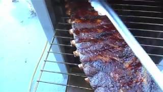 pork spare ribs smoked on the kbq c 60 ss pit