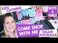 COME SHOP WITH ME - KMART KIDS CLOTHING with This Mum At Home Australian Mummy Vlogger Blogger